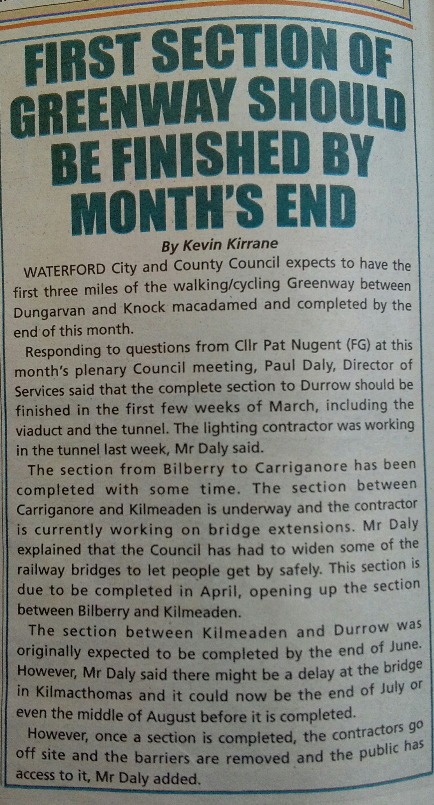 The Dungarvan Leader (24/2/16)